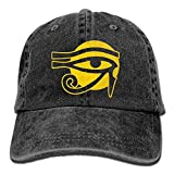MDFY OEWGRF Egyptian Horus Eye Denim Hat Adjustable Men's Baseball Caps
