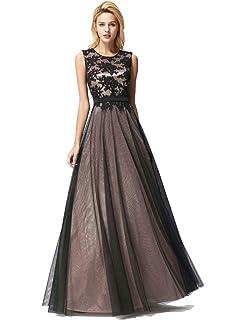 dba4bddb86f7 Ever Pretty Women's Elegant Floor Length A Line Sleeveless Appliques Tulle Formal  Evening Dresses EZ07545