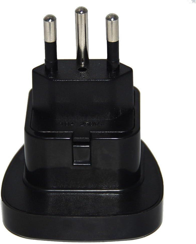 Reino Unido a Suiza enchufe adaptador con obturador de seguridad (negro): Amazon.es: Electrónica