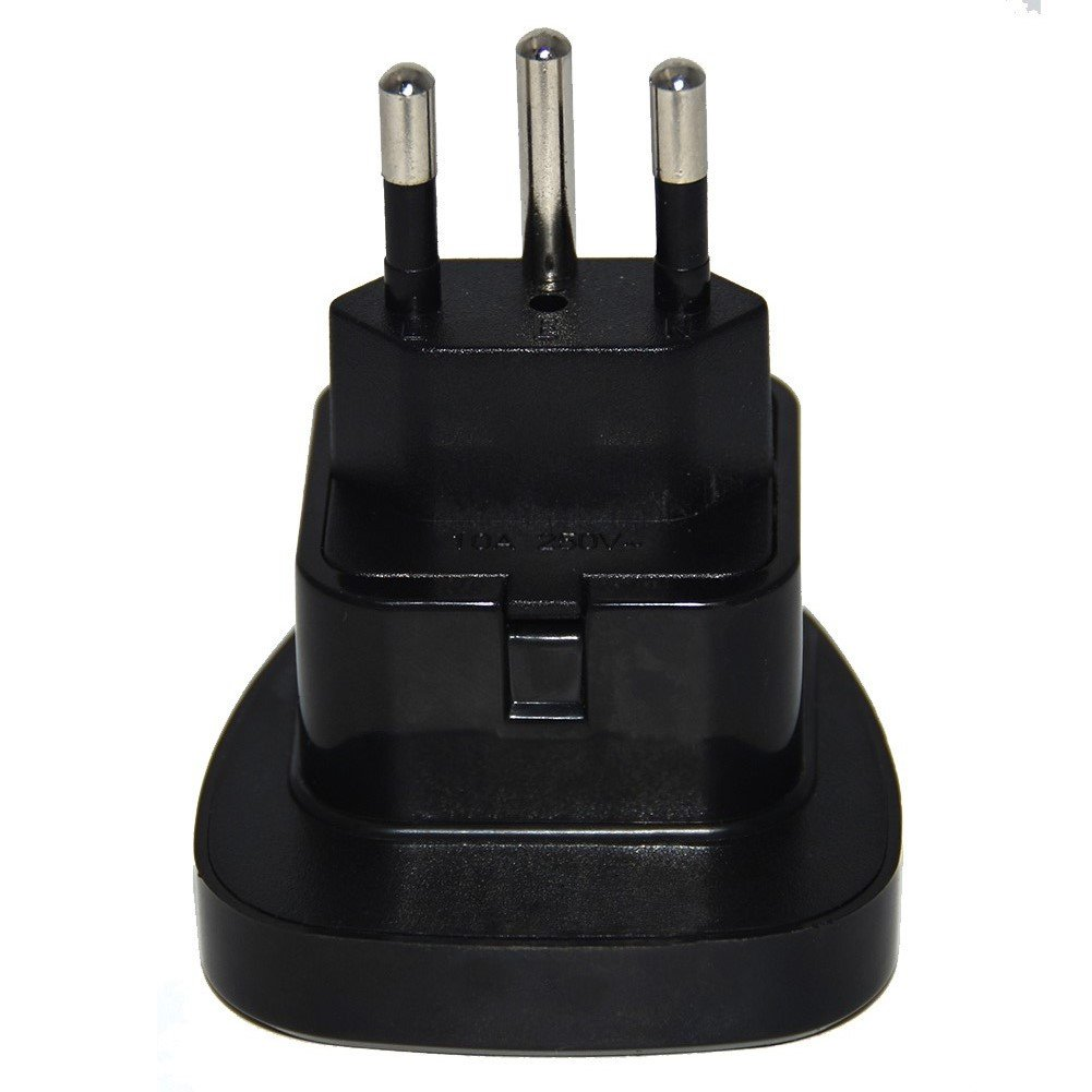 UK to Switzerland Plug Adapter with Safety Shutter(Black) Dongguan City Chen Fang Industrial Co. Ltd