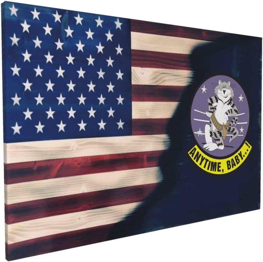 "Gosawel Canvas Wall Art Us Navy F-14 Tomcat Squadron Painting 16""X24"" Canvas Art Wall Art for Bedroom Living Room Kitchen Wall Decor"