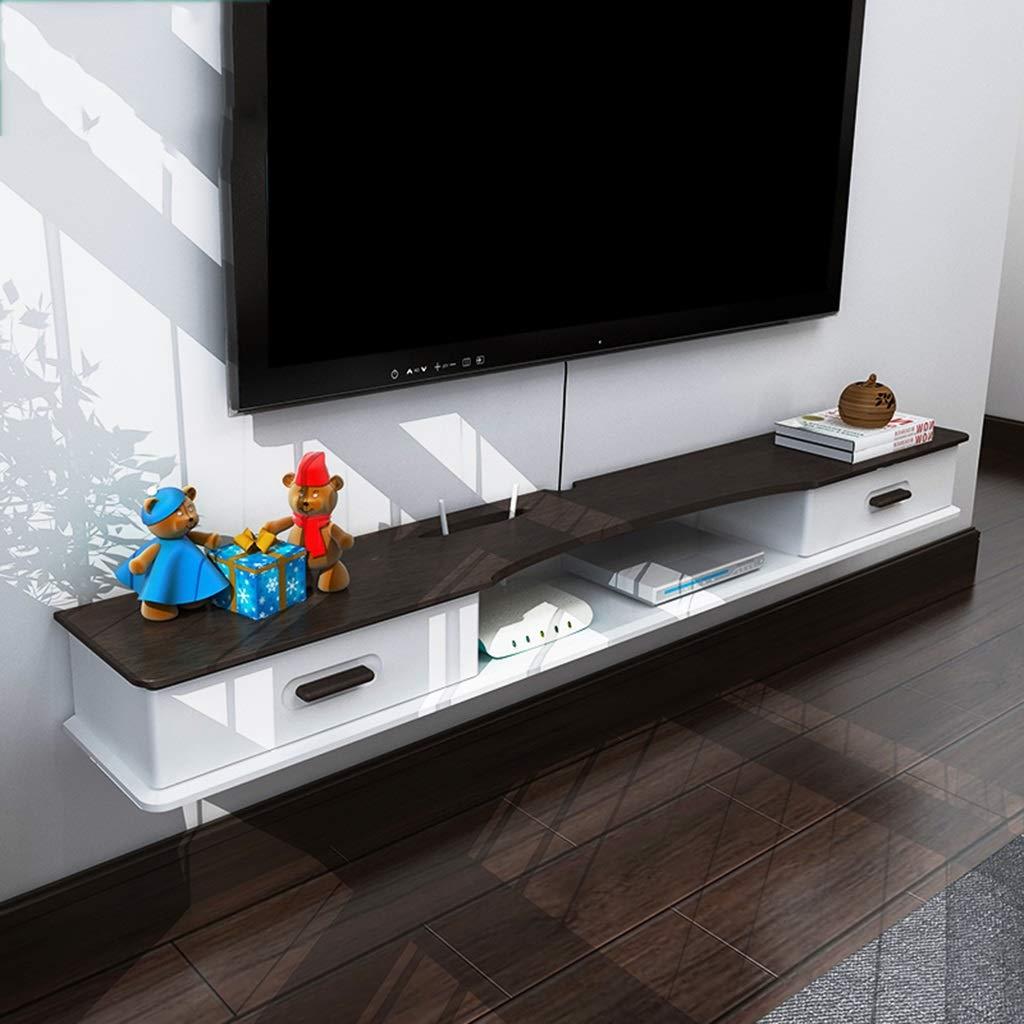 FU HOME テレビキャビネットセットトップボックス棚リビングルームテレビ壁の背景壁掛け棚寝室の壁装飾収納棚 B07QCVV75V
