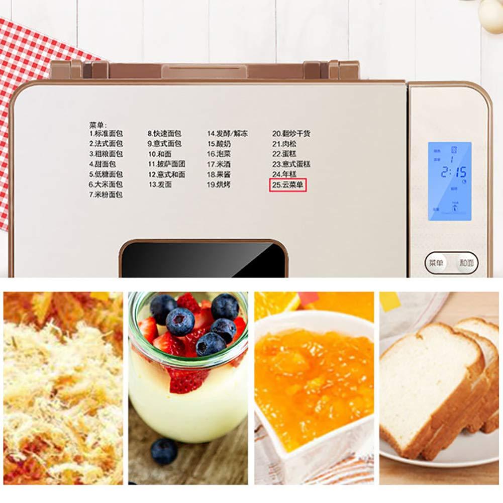 LJ-MBJ Casa Maquina de Pan, Completamente automático Multifunción Temporizador de retardo Electrodomésticos de Cocina Inteligente Desayuno Maquina para ...