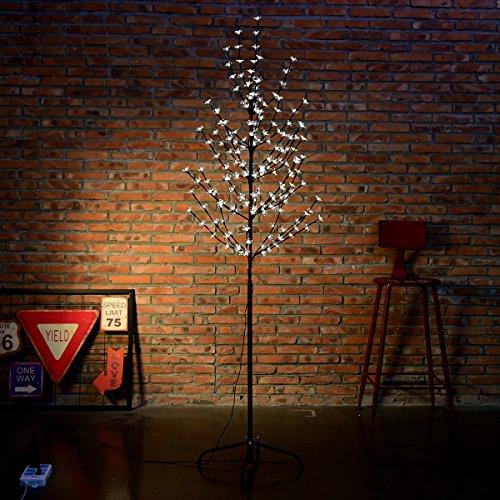 Excelvan 1.5M/5FT180 LEDsCherryBlossomTreeLight with CoolWhiteLight BlackBranches forHome Festival Party Christmas