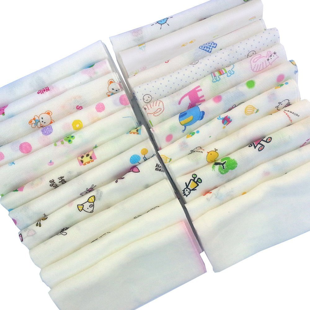 100% Cotton Handkerchief Gauze Muslin Square 30pcs Made in Korea