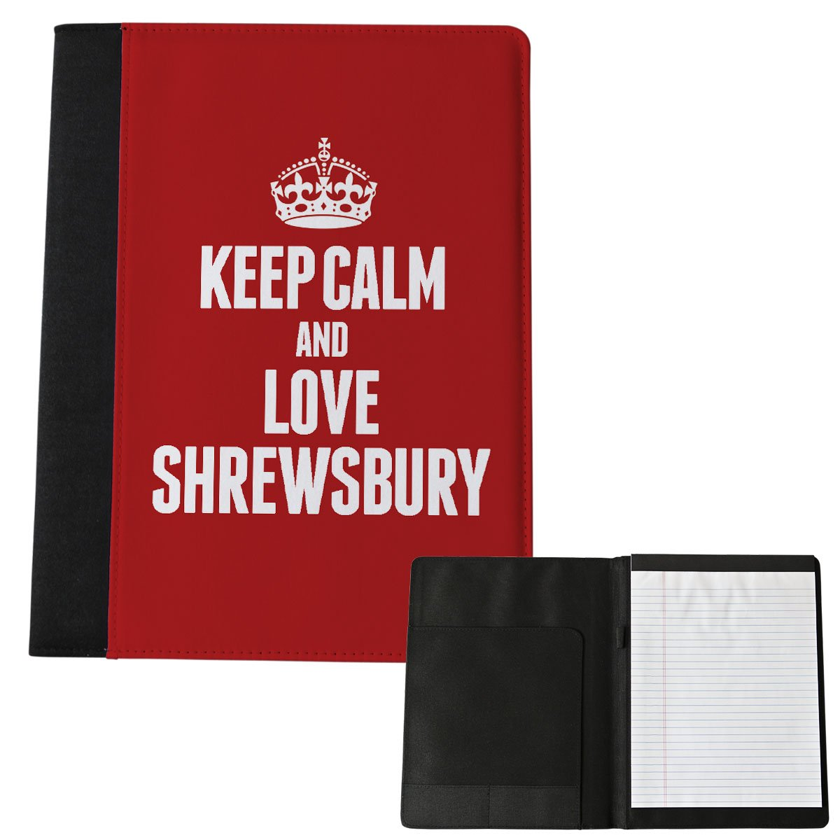 Rot Keep Calm und Love Shrewsbury groß Notizblock 0575 Duke Gifts