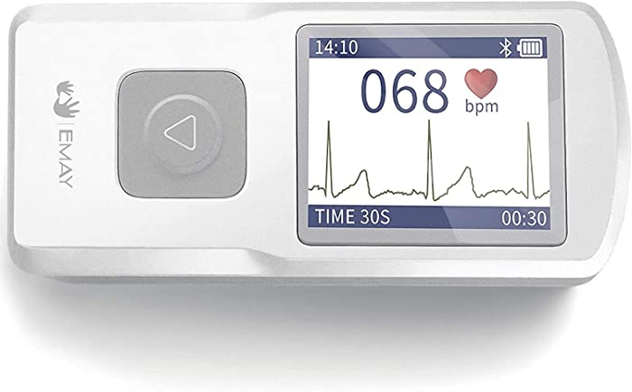 EMAY Portable ECG Monitor (for iPhone & Android, Mac & Windows) | Wireless EKG Monitoring Devices to Track Heart Rate & Rhythm for Heart Performance