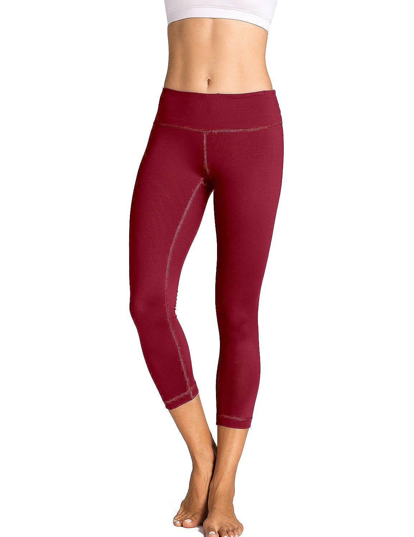 CRZ YOGA - Pantalones de Deporte Slim Fit Leggins con Bolsillo Para Mujer