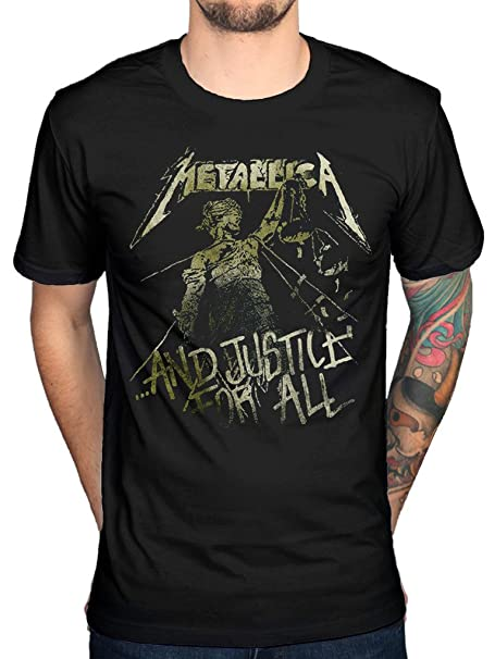 Official Metallica Vintage Justicia Camiseta Banda Metal James Hetfield Muerte magnética: Amazon.es: Libros