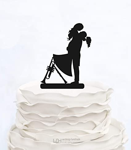 Decoración para tarta con diseño de notas musicales con instrumentos musicales para decoración de tartas de boda con ...