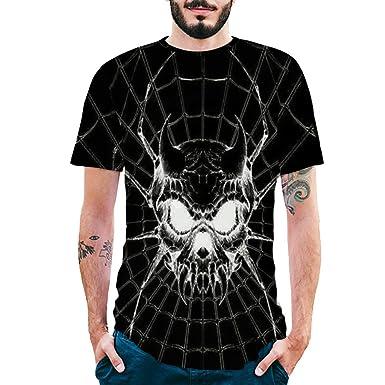 Xiloccer Fashion Mens Printing Shirts Short Sleeve T-Shirt