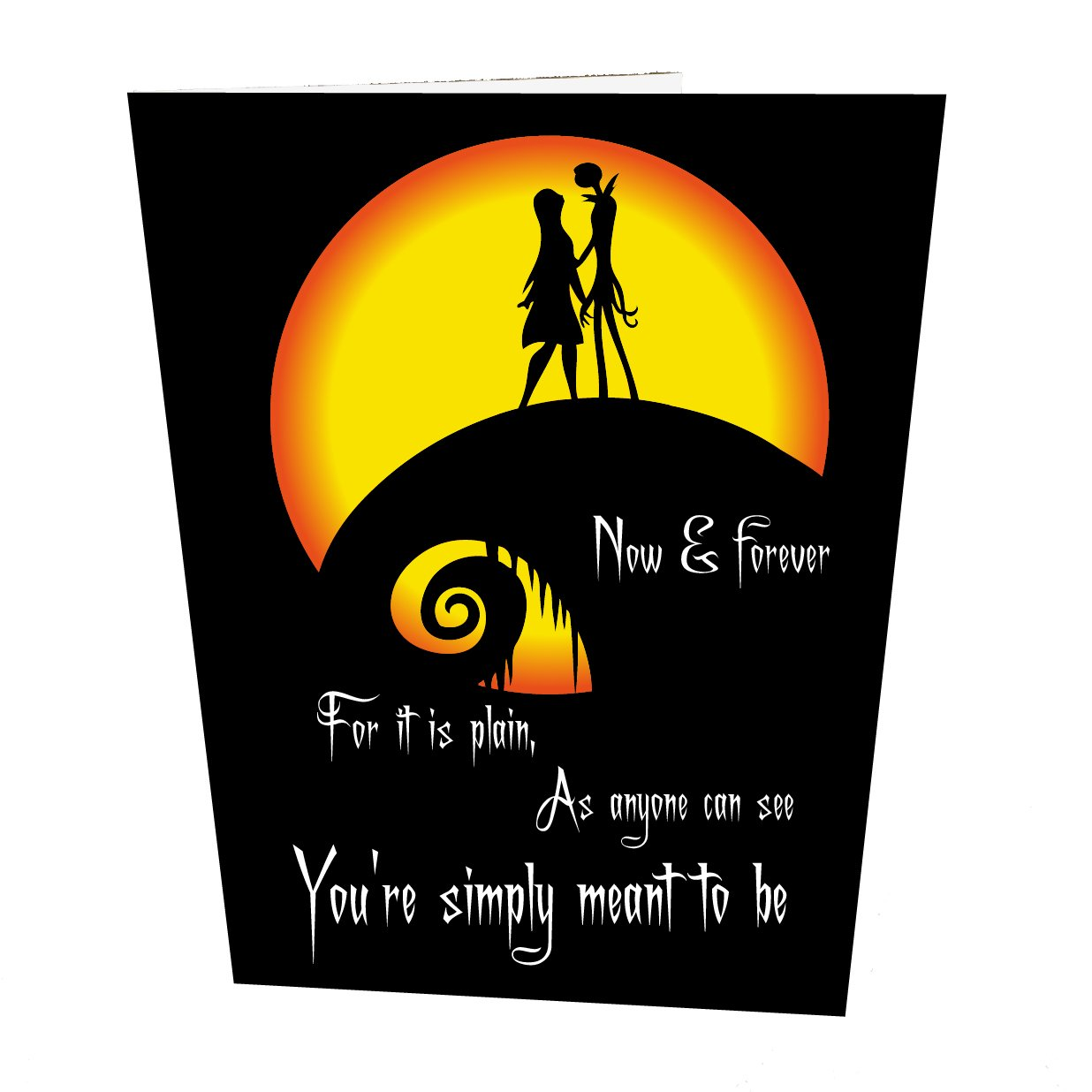 Jack and Sally Moon Wedding Card