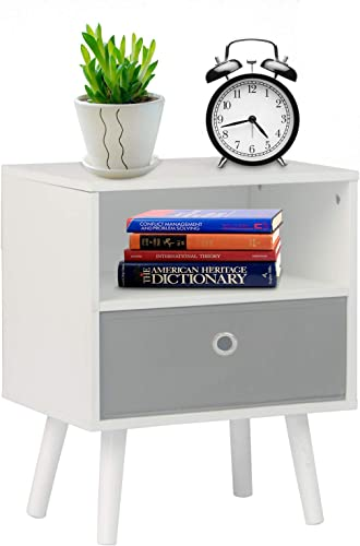 DSDecor Nightstand Rectangle Wooden End Table