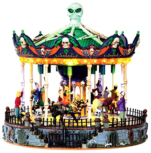 Lemax 34605 SCARY-GO-ROUND SPOOKY TOWN Exclusive Carnival Ride -