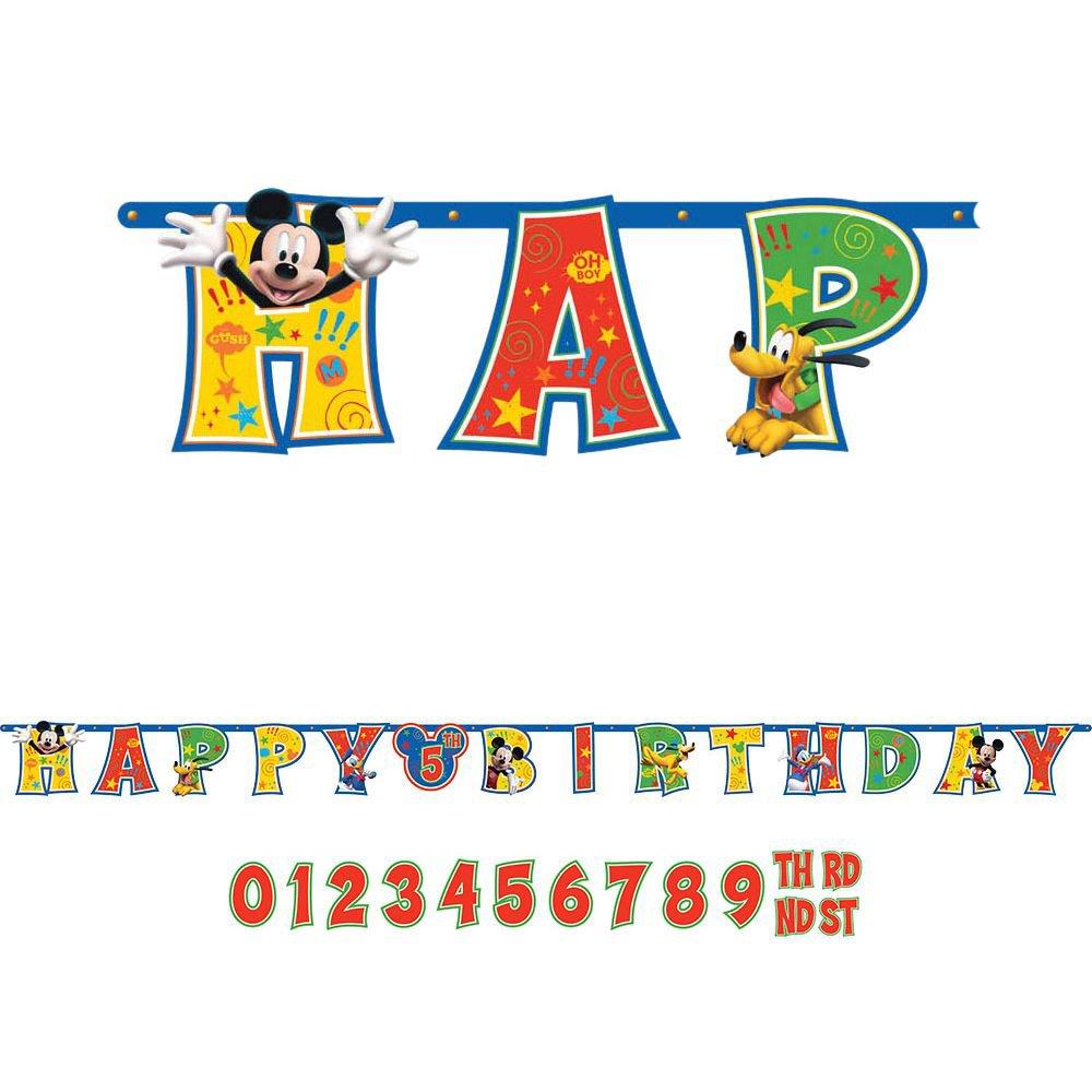 ミッキーマウスadd-an-age Letter Banner – パーティーSupplies   B012H8MWYY