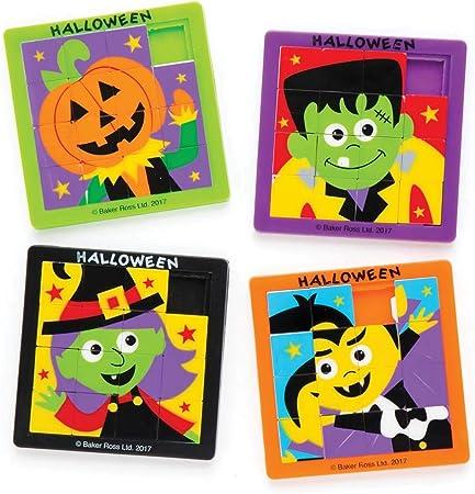 Baker Ross Puzles deslizantes de Halloween (Pack de 4) para Bolsas Sorpresa Infantiles de Halloween: Amazon.es ...