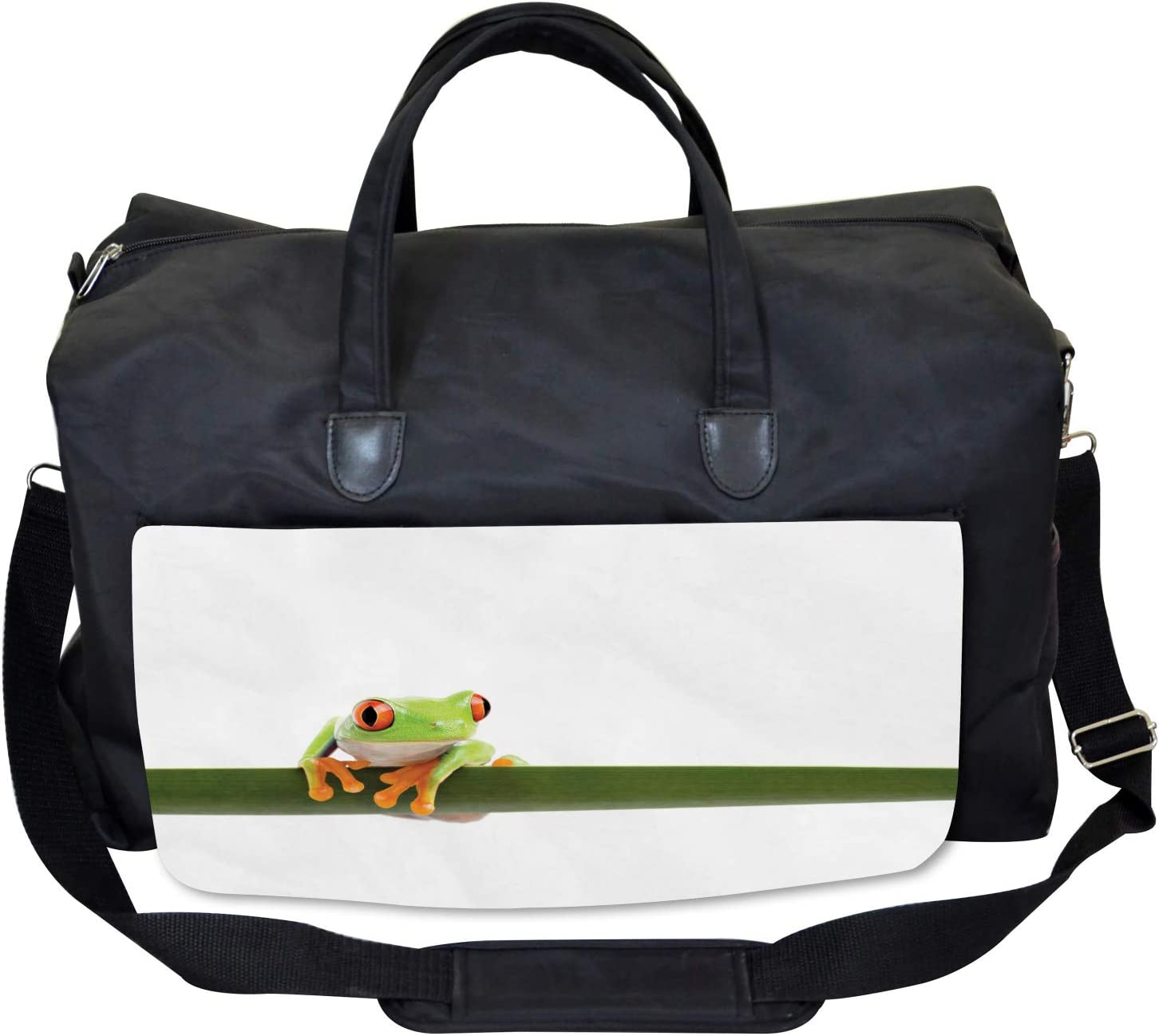 Tropic Wild Rainforest Large Weekender Carry-on Ambesonne Animal Gym Bag