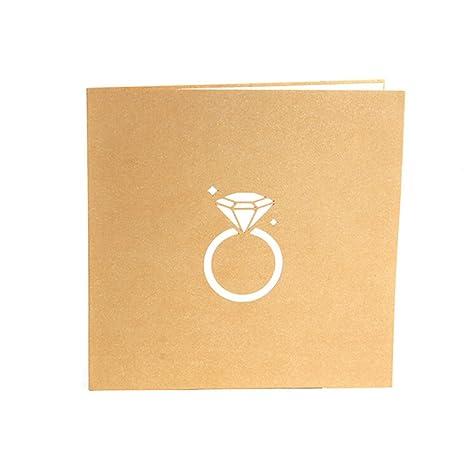 Amazon Com Qupida 3d Ring Wedding Invitation Card Birthday