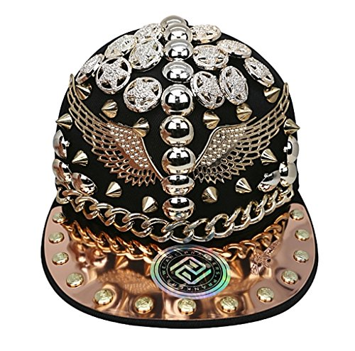 myglory77mall PRANKERS Handmade Flat Cap Snapback Bboy Hats Adjustable Hip-Hop WI4 Black Mesh L For Adults by myglory77mall