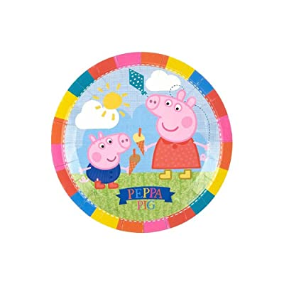 Peppa Pig Paper Plate - 9 Inches / 23cm - Pack of 8: Industrial & Scientific