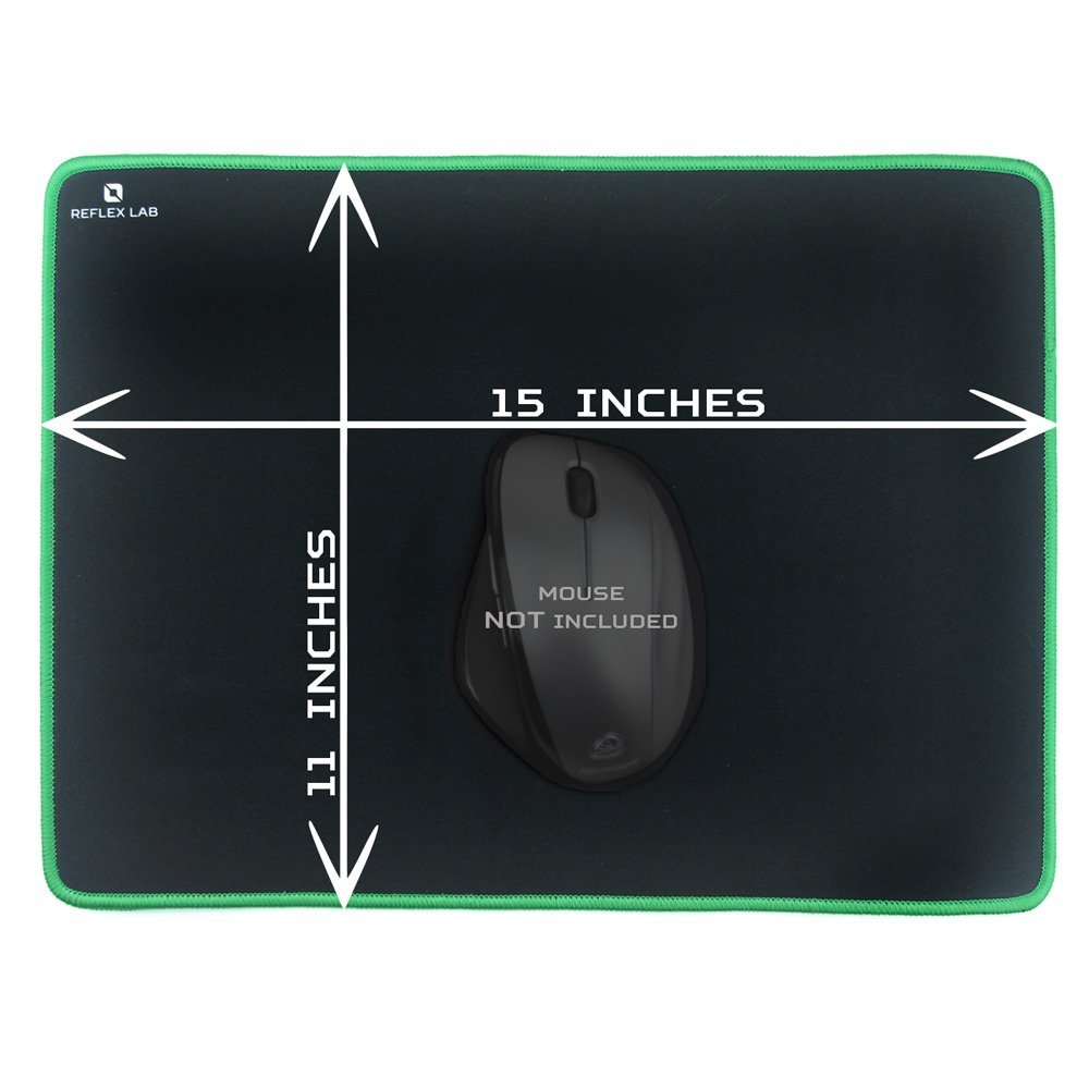 Stitched Edges Reflex Lab Large Extended Gaming Mouse Pad Mat XXL Waterproof,