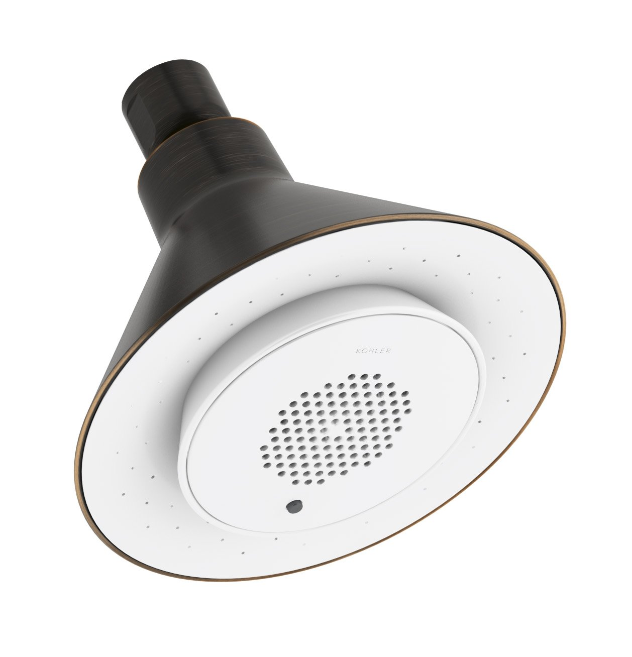 KOHLER K-9245-2BZ 2.5 GPM Moxie Showerhead and Wireless Speaker ...