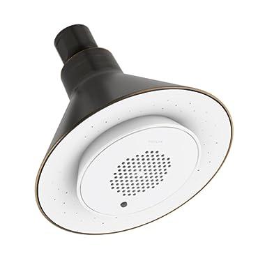 KOHLER K-9245-2BZ Moxie 2.5 gpm single-function Wireless Speaker Showerhead, Oil-Rubbed Bronze