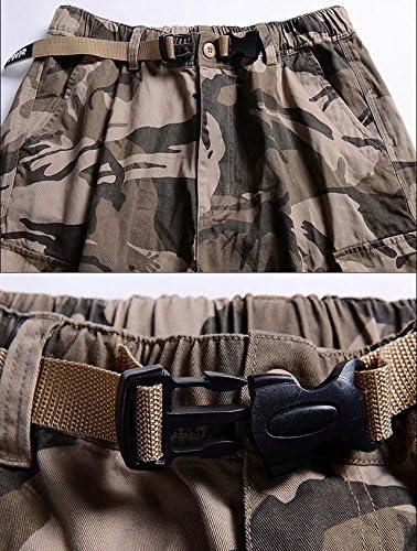 [eleitchtee] カーゴパンツ メンズ ミリタリー ショートパンツ ワークパンツ 作業着 迷彩柄 クロップドパンツ ズボン 015-sjxz1414b-800(XL アーミーグリーン)