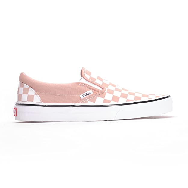 vans classic slip on pink checkerboard