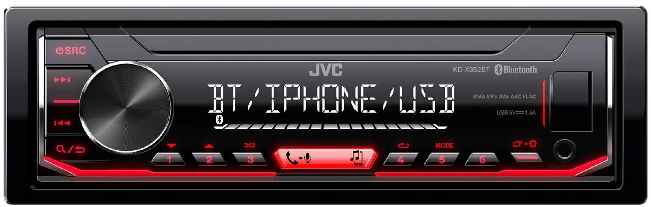 Black JVC kd-x352bt Digital Car Radio