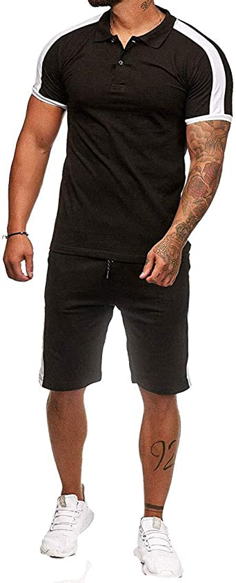 Winwinus Mens Athletic Splice Summer Plus Size Stripes Printed Shorts