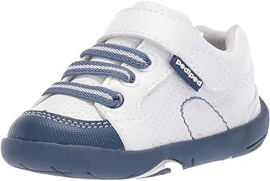 pediped Boys' Dani First Walker Shoe, White Navy