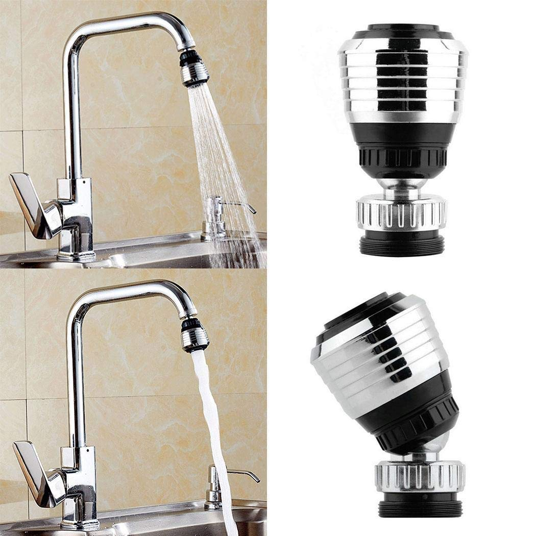 Acecoree New Home Kitchen Bathroom Useful Faucet Bubbler Saving Water Spill 360° Water Spout Filter Replacement Countertop Water Filters
