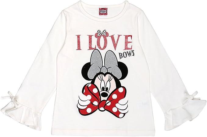 Disney Ragazze Minnie Mouse Maglietta Bianco