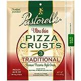 Pastorelli Ultra Thin Pizza Crust– Traditional Low Sodium Pizza Crust - 12 inch Pizza Crust – Pack of 10, 3 count Pizza Crust