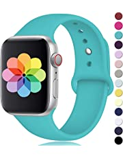 Laffav Compatible with Apple Watch Band 42mm 38mm 40mm 44mm,Silicone Replacement Band Compatible with Apple Watch Series 4/3/2/1, for Women Men