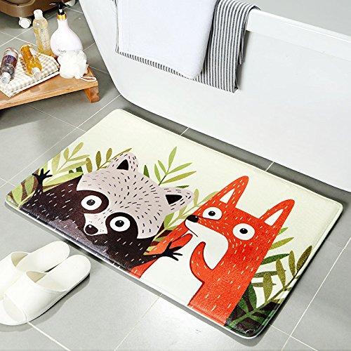 MOMO Cartoon Carpet Floor Mats Bathroom Entrance Bathroom Non-Slip Mat Home Kitchen Long Mat,The Wizard of Oz,40 60cm -