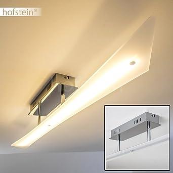 LED Deckenleuchte In Trapezform Mit Satiniertem Lampenschirm