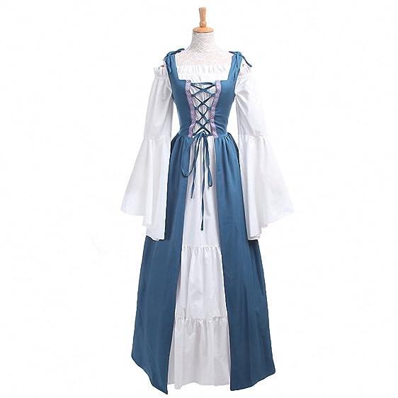 Amazon.com: Woman\'s Renaissance Victorian Medieval Gothic Long ...