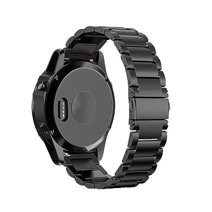 Fenix 5 correa de metal, kuxiu enlace ajustable banda de reloj de ...