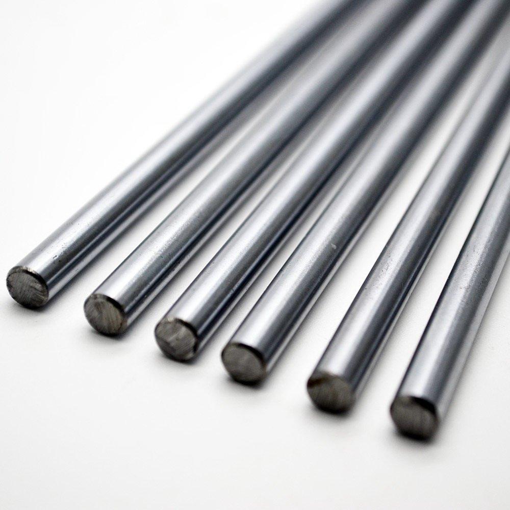 2pcs//lot Cnc Linear Shaft Chrome OD 10mm L 600mm WCS Round Steel Rod Linear Rail