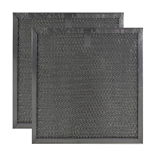 Air Filter Factory 8-3/4 Inches X 9-1/2 Inches X 3/8 Inches Range Hood Aluminum Grease Filters (Set Of 2 Filters) AFF94-M