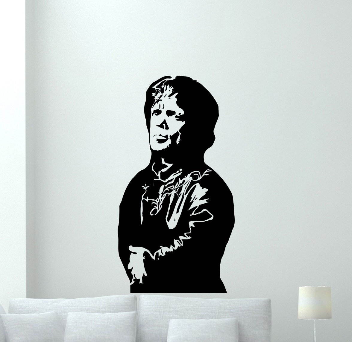 Tyrion Lannister Wall Decal Game Of Thrones Vinyl Sticker Fantasy Movie Wall Art Design Housewares Kids Room Bedroom Decor Removable Wall Mural 36zzz