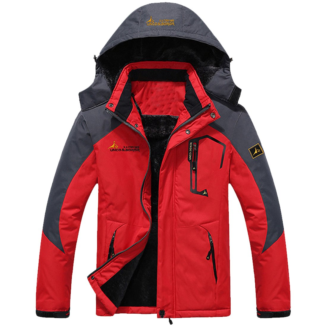 Cozy Age Unisex Waterproof Mountain Jacket Lined Windproof Skiing Jacket Amazon.com