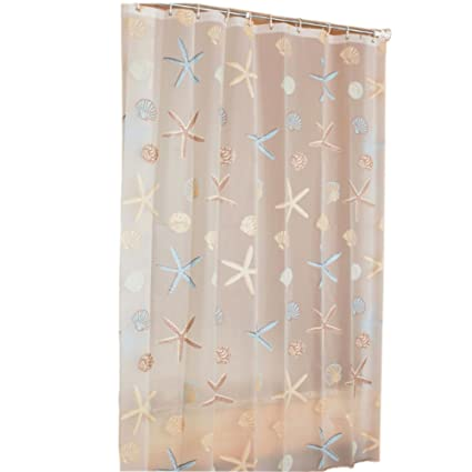 Image Unavailable Not Available For Color Peva Shower Curtain Waterproof Bathroom Mould Proof Cut Off Take