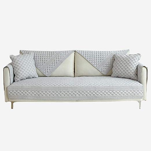 Hybad Funda Sofa Anti Perros Fundas Protectoras Reversibles para Muebles de 2/3/4/5 plazas, Protector para sofá de Tela para Perros y Gatos, Funda de algodón Slipcover-Grey_90 * 240cm: Amazon.es: Hogar