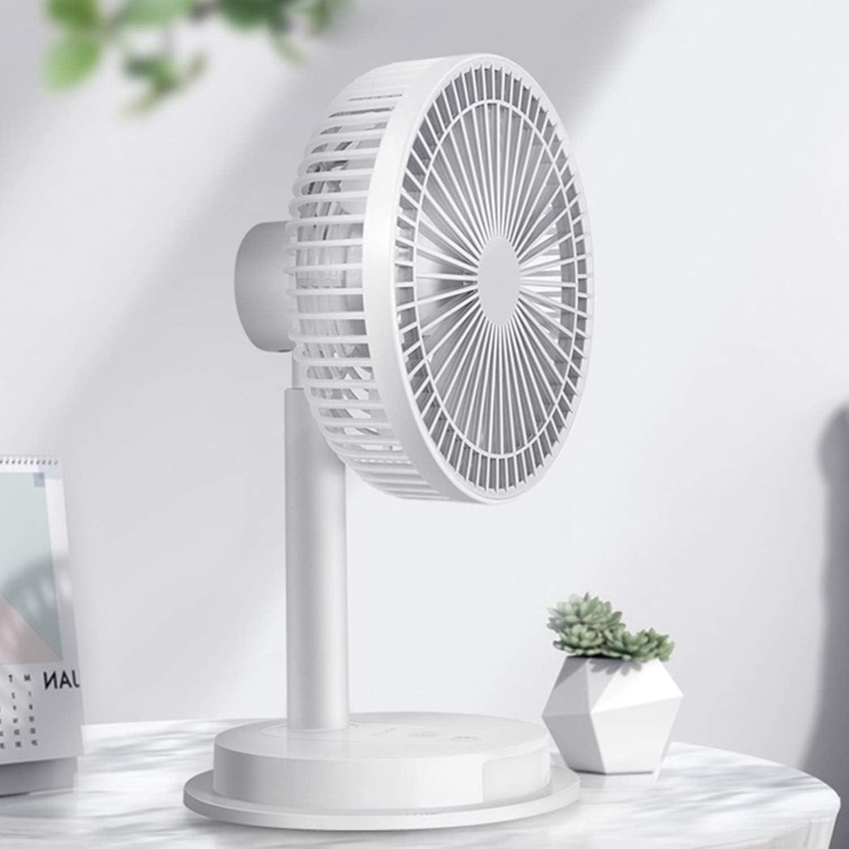 HAIMEI-WU Charging USB Table Fan Rotatable Gravid Wind Desktop Miniskirt Fan Office Home Personal Fan Mini Electric Fan Color : Black, Size : 02