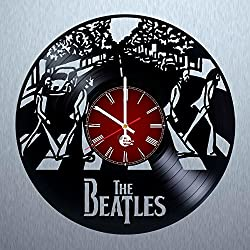 The Beatles Handmade Vinyl Record Wall Clock - Get unique living room wall decor - Gift ideas for mother and father – Cool Rock Unique Modern Art