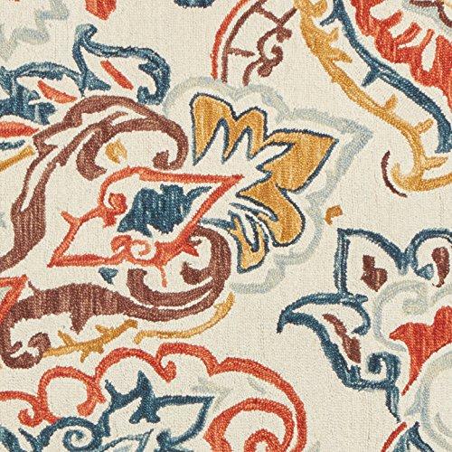 Stone & Beam Swirling Paisley Motif Wool Area Rug, 8' x 10', Multi by Stone & Beam (Image #1)