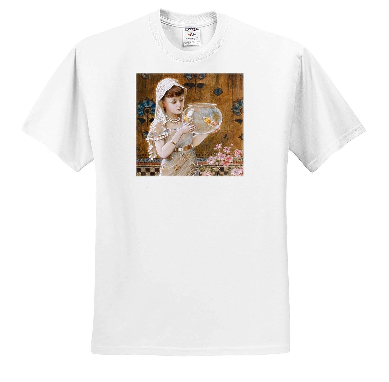 Masterpieces 3dRose VintageChest T-Shirts The Goldfish Bowl William Stephen Coleman